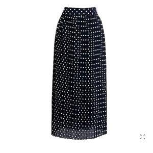 NWT J CREW polka dots midi skirt 4